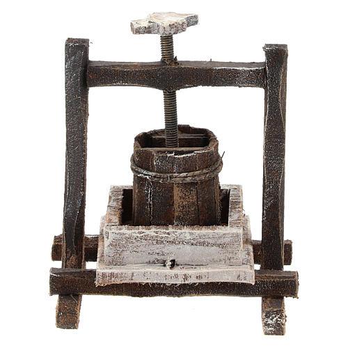Pressoir raisin bois pour crèche 10 cm 3