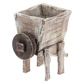 Pressoir pour raisins bois crèche 10 cm s4