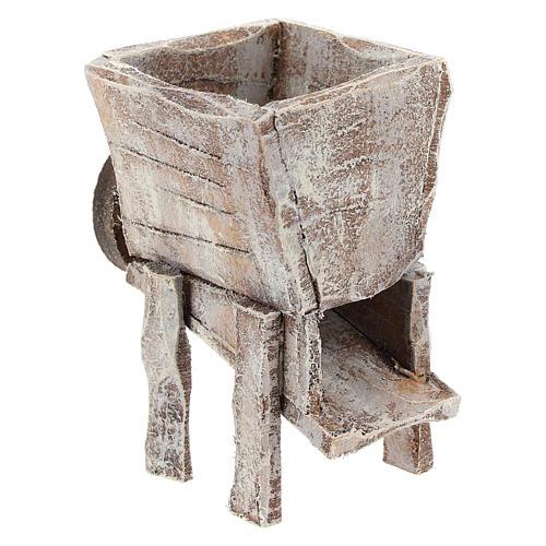 Pressoir pour raisins bois crèche 10 cm 3