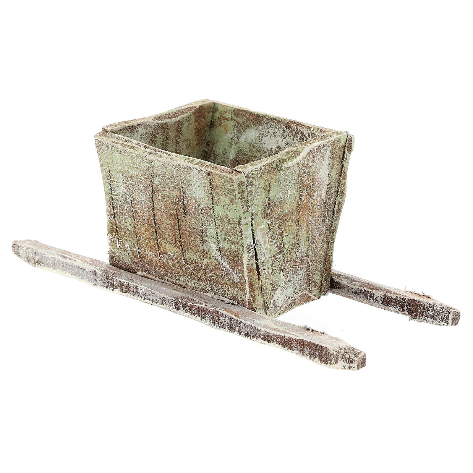 Bassine foulage raisin en bois crèche 12 cm 4