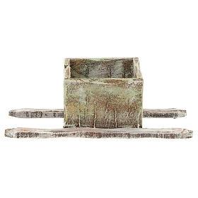 Bassine foulage raisin en bois crèche 12 cm s1