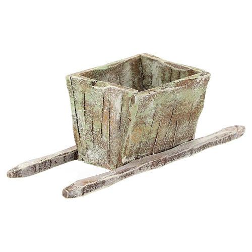 Pigiatrice in legno per uva presepi 12 cm 2