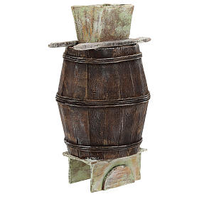 Barrell with stairs and grape vat for 12 cm Nativity scene s3