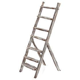 Barril con escalera y prensa uva belén 12 cm s4