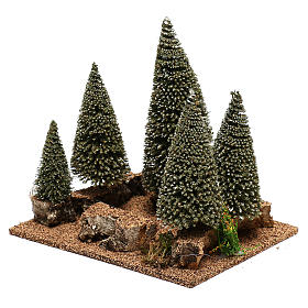 Pine forest for 6 cm nordic style Natvity scene s2