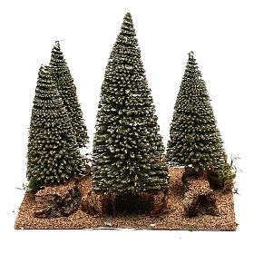 Pine forest for 6 cm nordic style Natvity scene s4