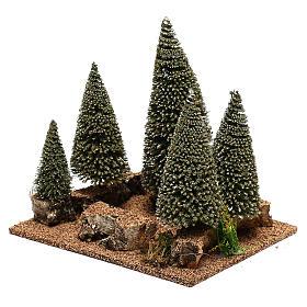 Bosque de pinos belén en estilo nórdico de 6 cm s2