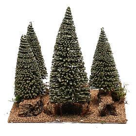 Forêt de sapins pour crèche en style nordique de 6 cm s4
