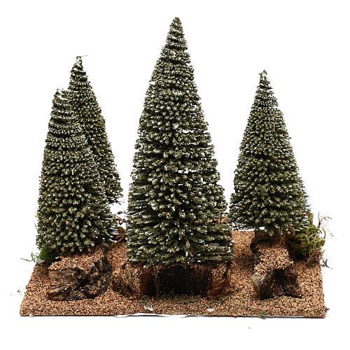 Bosco di pini per presepe in stile nordico di 6 cm 4