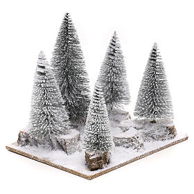 Snowy pine forest for 6 cm nordic style Natvity scene s3