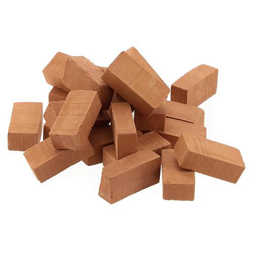 Terracotta bricks for DIY Nativity Scene 1