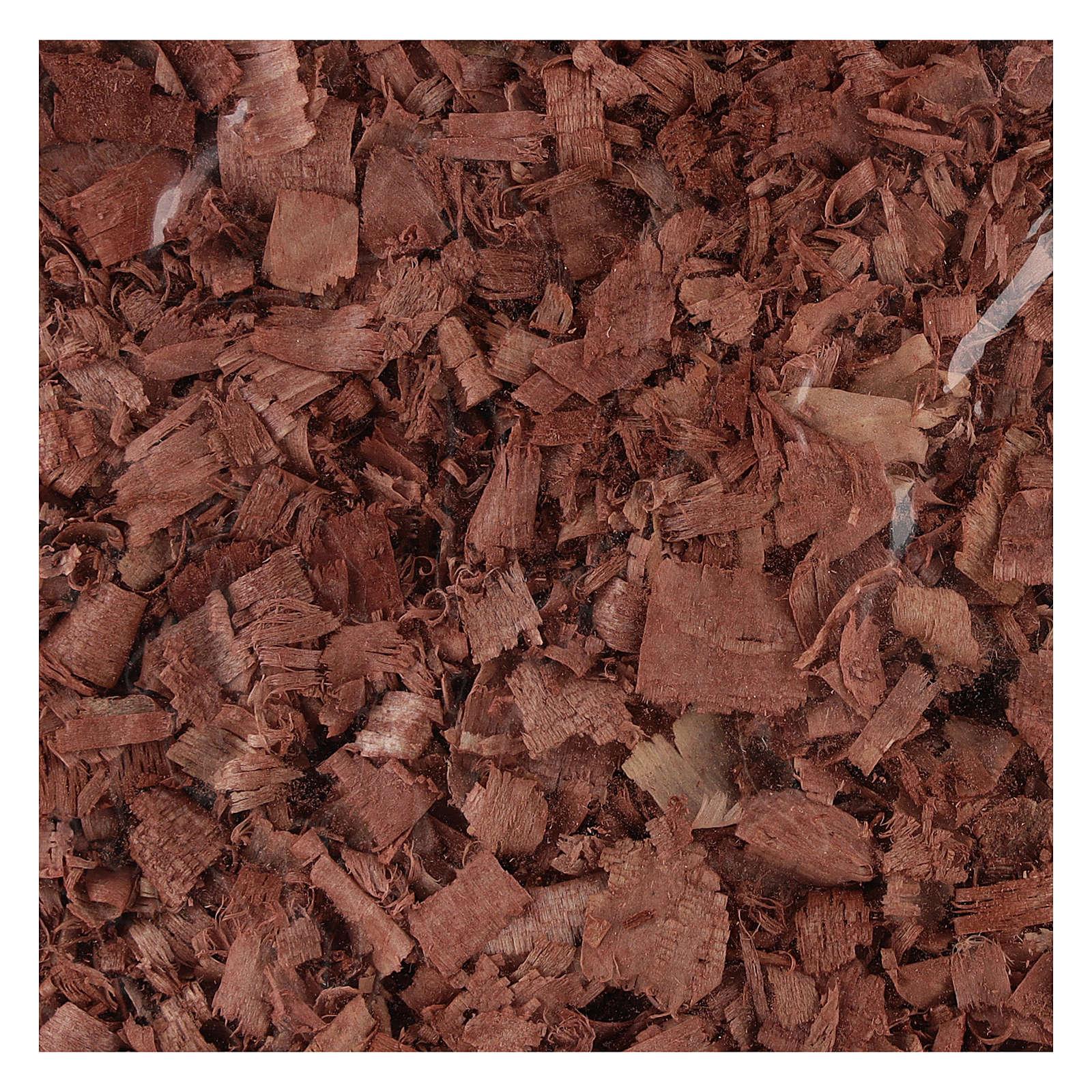 Trucioli marroni per pavimento presepe 100 gr 4