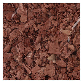 Trucioli marroni per pavimento presepe 100 gr s2