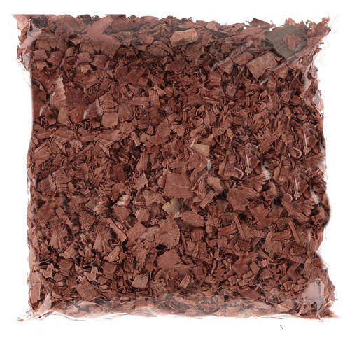 Trucioli marroni per pavimento presepe 100 gr 1