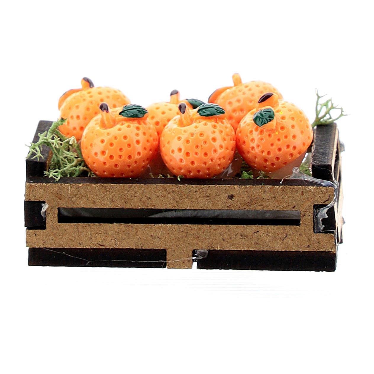 Caja de naranjas madera para belén 10-16 cm 4