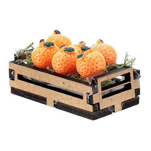 Caja de naranjas madera para belén 10-16 cm 2