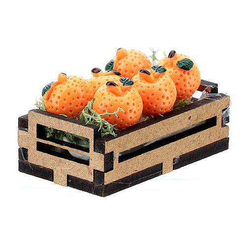 Caja de naranjas madera para belén 10-16 cm 3