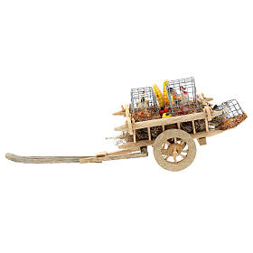 Cart with chickens and vegetables for 10 cm Nativity scene s4
