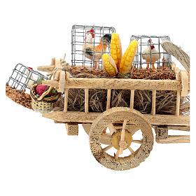 Carro con gallinas y verduras belén 10 cm s2