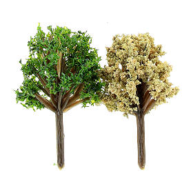 Assorted bushes in plastic Moranduzzo for 6-10 cm Nativity scene, 2 pcs s1
