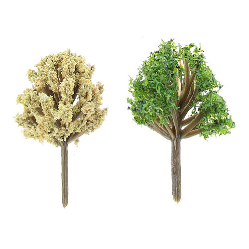 Assorted bushes in plastic Moranduzzo for 6-10 cm Nativity scene, 2 pcs 2