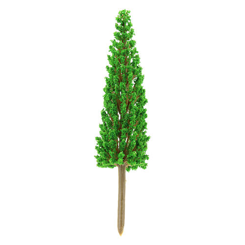 Cypress tree in plastic Moranduzzo for 4-8 cm Nativity scene 1