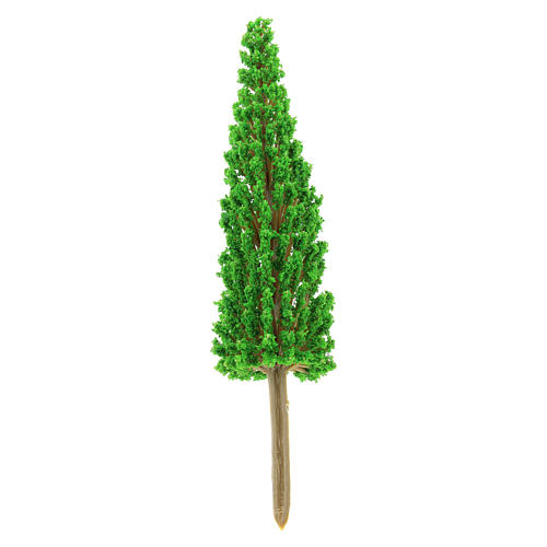 Cypress tree in plastic Moranduzzo for 4-8 cm Nativity scene 2