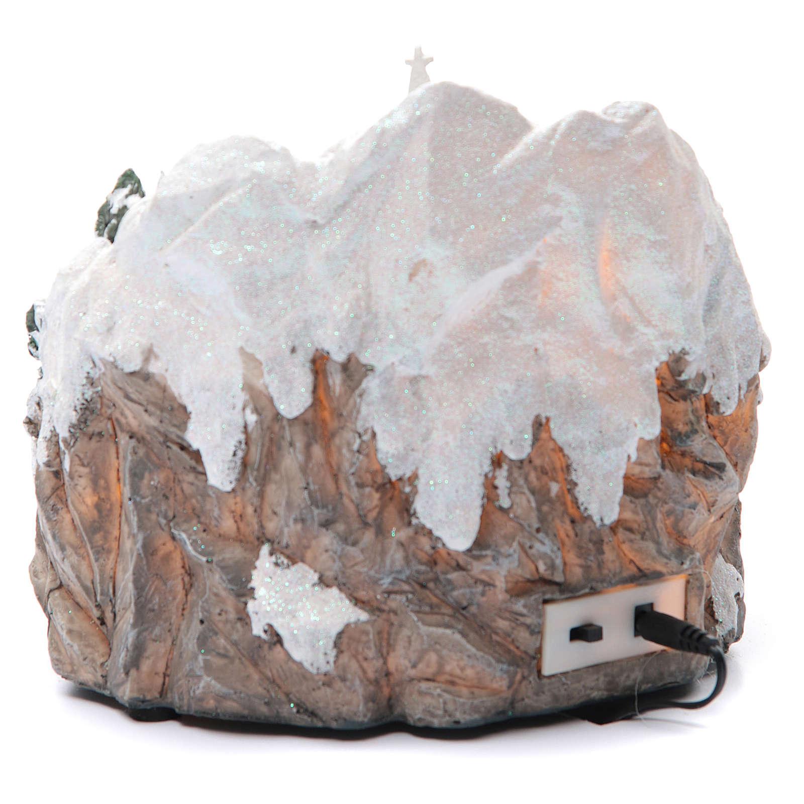 Pueblo Navideño en miniatura con trenecito 20 x 20 cm 3