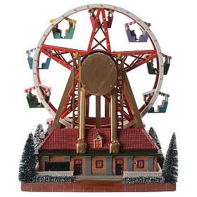 Weihnachtsszene Karussell mit Musik 30x25x30cm s5