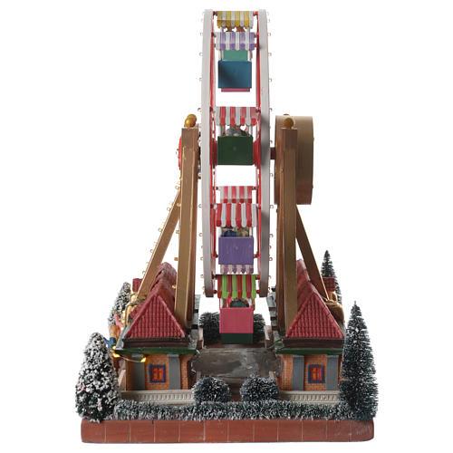 Weihnachtsszene Karussell mit Musik 30x25x30cm 4