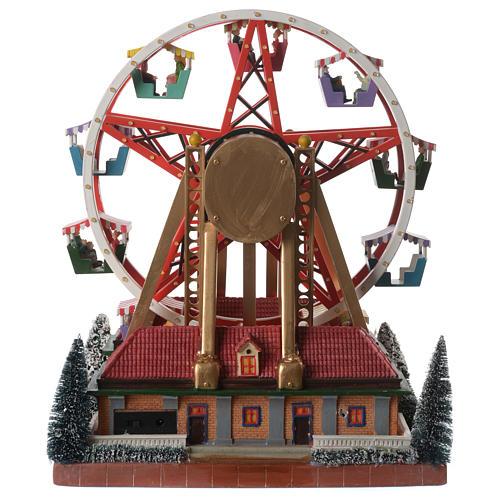 Weihnachtsszene Karussell mit Musik 30x25x30cm 5