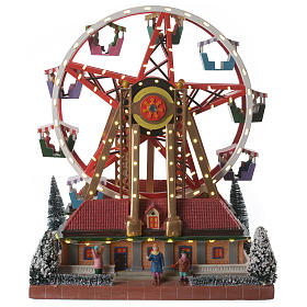 Christmas villages sets: Merry-go-round for winter village 30x25x30 cm