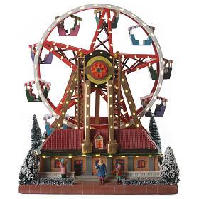 Cenários Natalinos em Miniatura: Roda gigante cenário natalino musical 30x25x30 cm