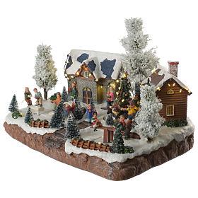 Village hivernal musical jeux 35x25x25 cm s2