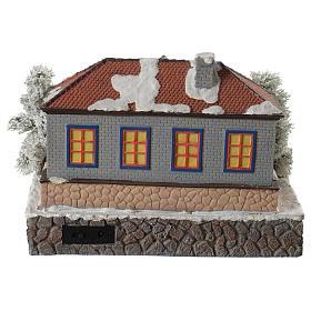 Scuola villaggio invernale musicale 25x25x15 cm s4