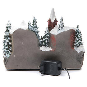 Christmas village with lights and movement 30x15x20 cm s4