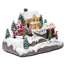 Winter village Father Christmas 25x15x15 cm s3