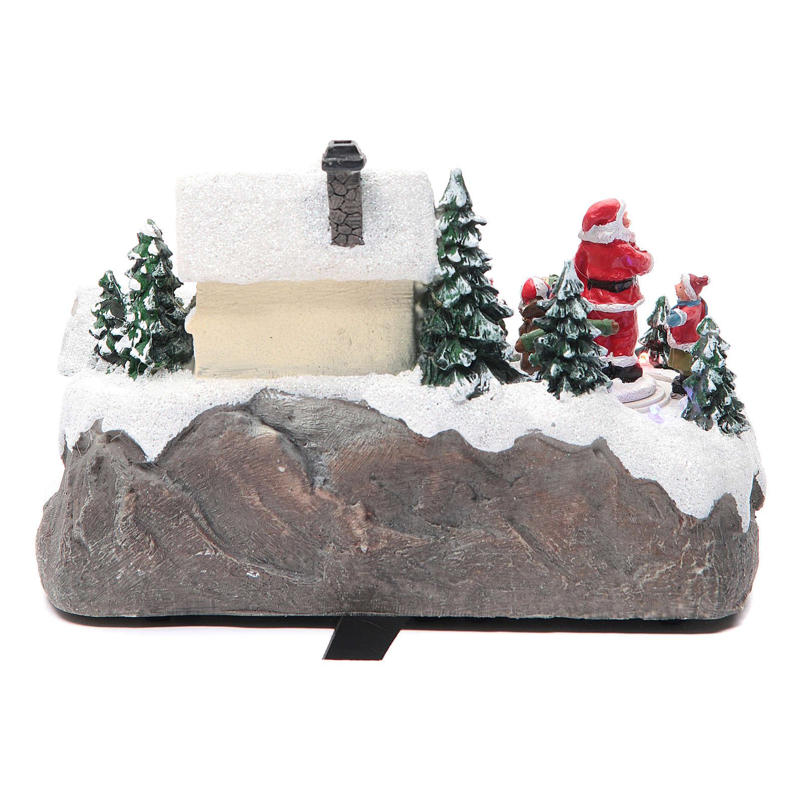 Pueblo Navideño Papá Noel 25x15x15 cm 3