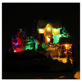 Villaggio Natalizio Babbo Natale 25x15x15 cm s5