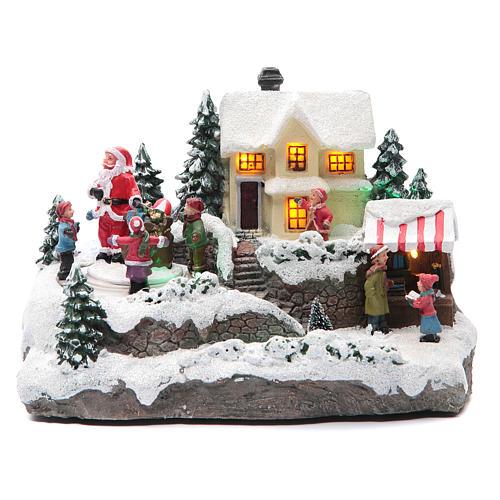 Villaggio Natalizio Babbo Natale 25x15x15 cm 1