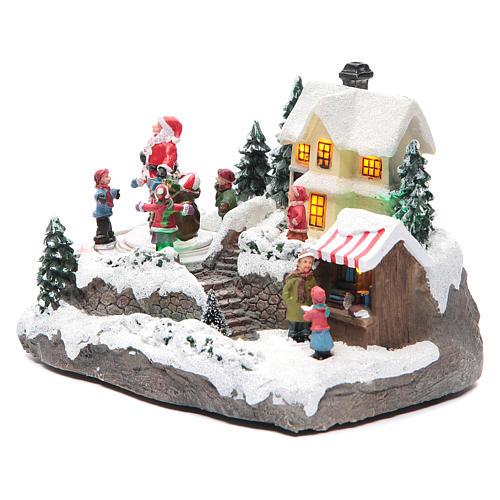 Villaggio Natalizio Babbo Natale 25x15x15 cm 2