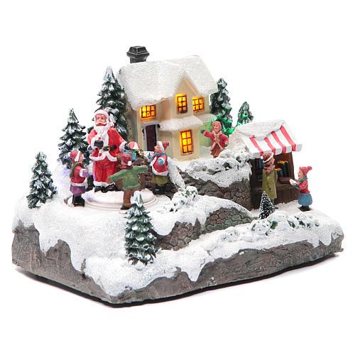 Villaggio Natalizio Babbo Natale 25x15x15 cm 3