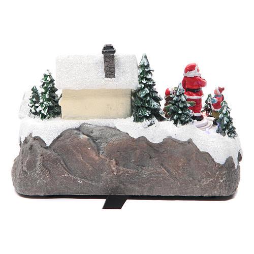 Villaggio Natalizio Babbo Natale 25x15x15 cm 4