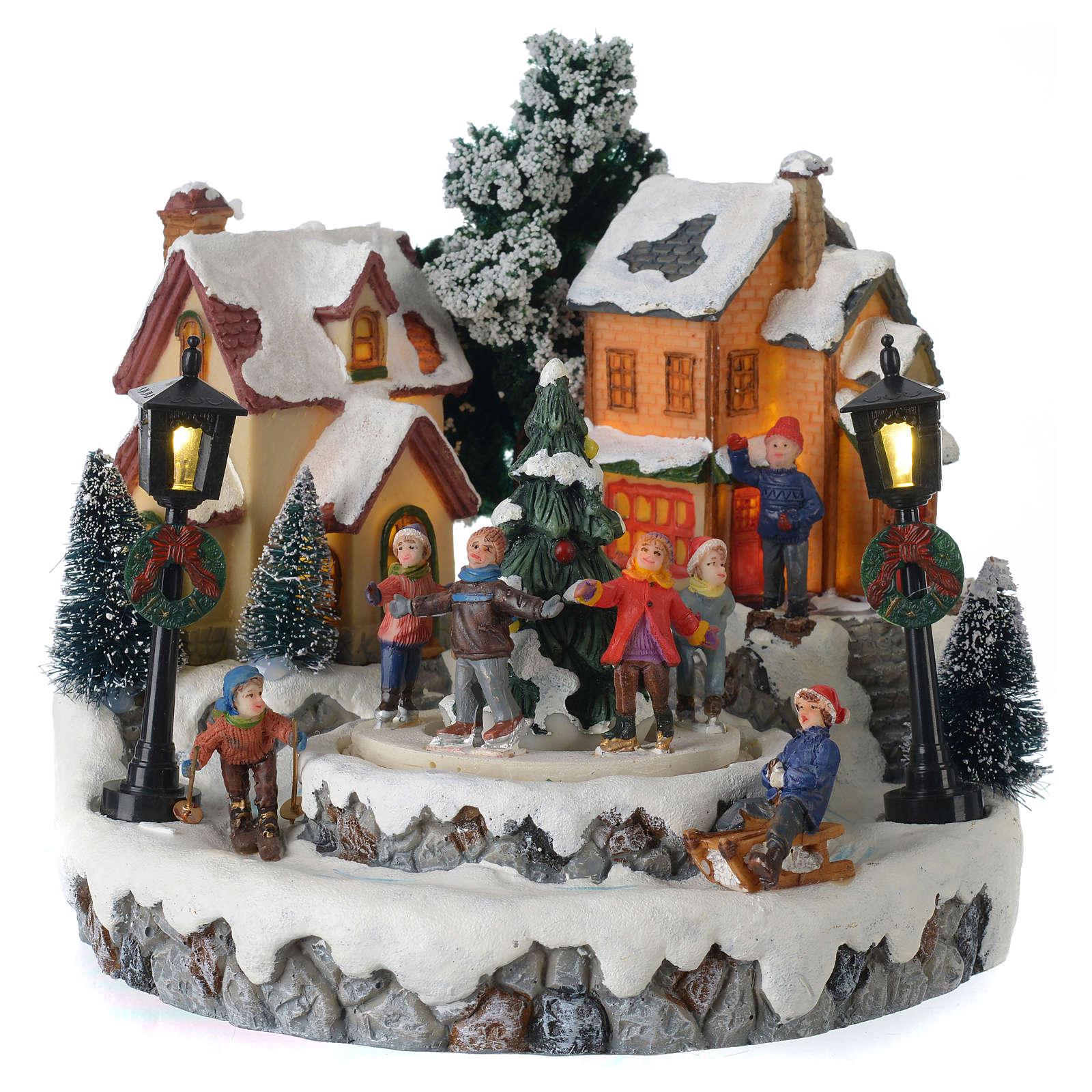 Weihnachtsszene Ringelreihen um Baum Durchmesser 20cm | Online ...