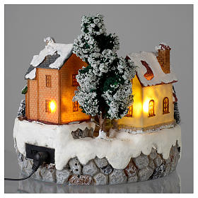 Villaggio di Natale Girotondo albero diametro 20 cm s5