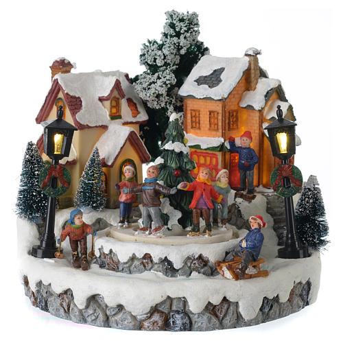 Villaggio di Natale Girotondo albero diametro 20 cm 1