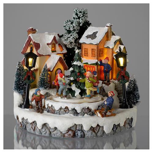 Villaggio di Natale Girotondo albero diametro 20 cm 2