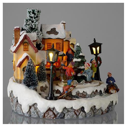 Villaggio di Natale Girotondo albero diametro 20 cm 4
