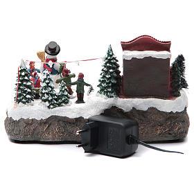 Pueblo Navideño en miniatura Corro muñeco de nieve 25x15x15 cm s4