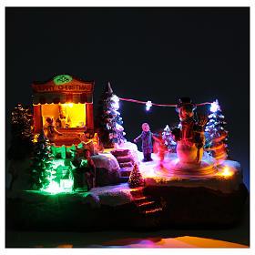 Pueblo Navideño en miniatura Corro muñeco de nieve 25x15x15 cm s5